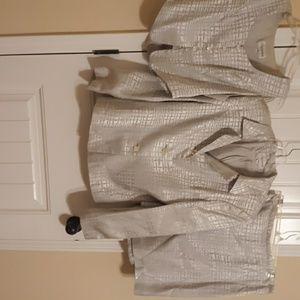 3 pc suit jacket and vest size 10. Skirt sz 12